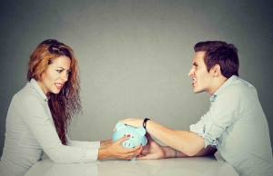 dividing debts in divorce